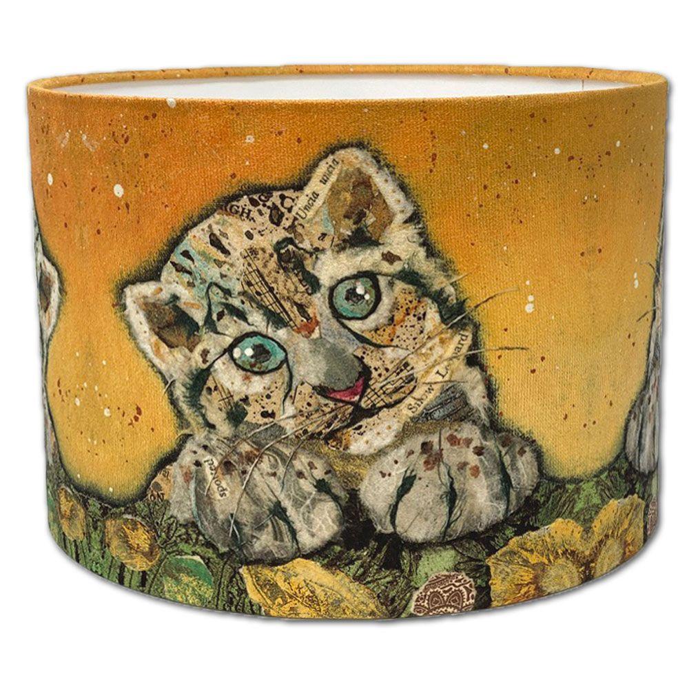 Snow Leopard Cub-  Drum Lampshade