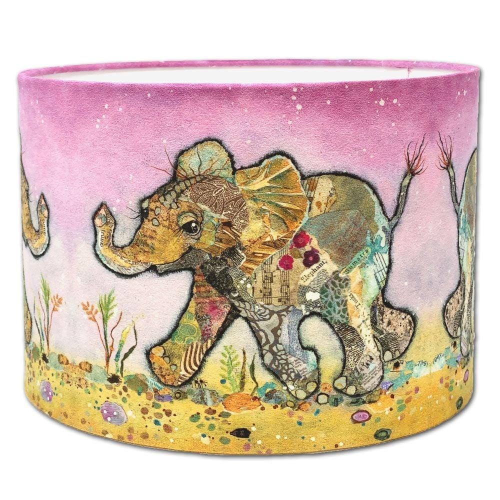 Kali Baby Elephant-  Drum Lampshade