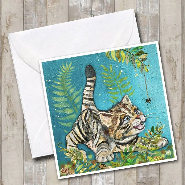 Cat Card by Dawn Maciocia