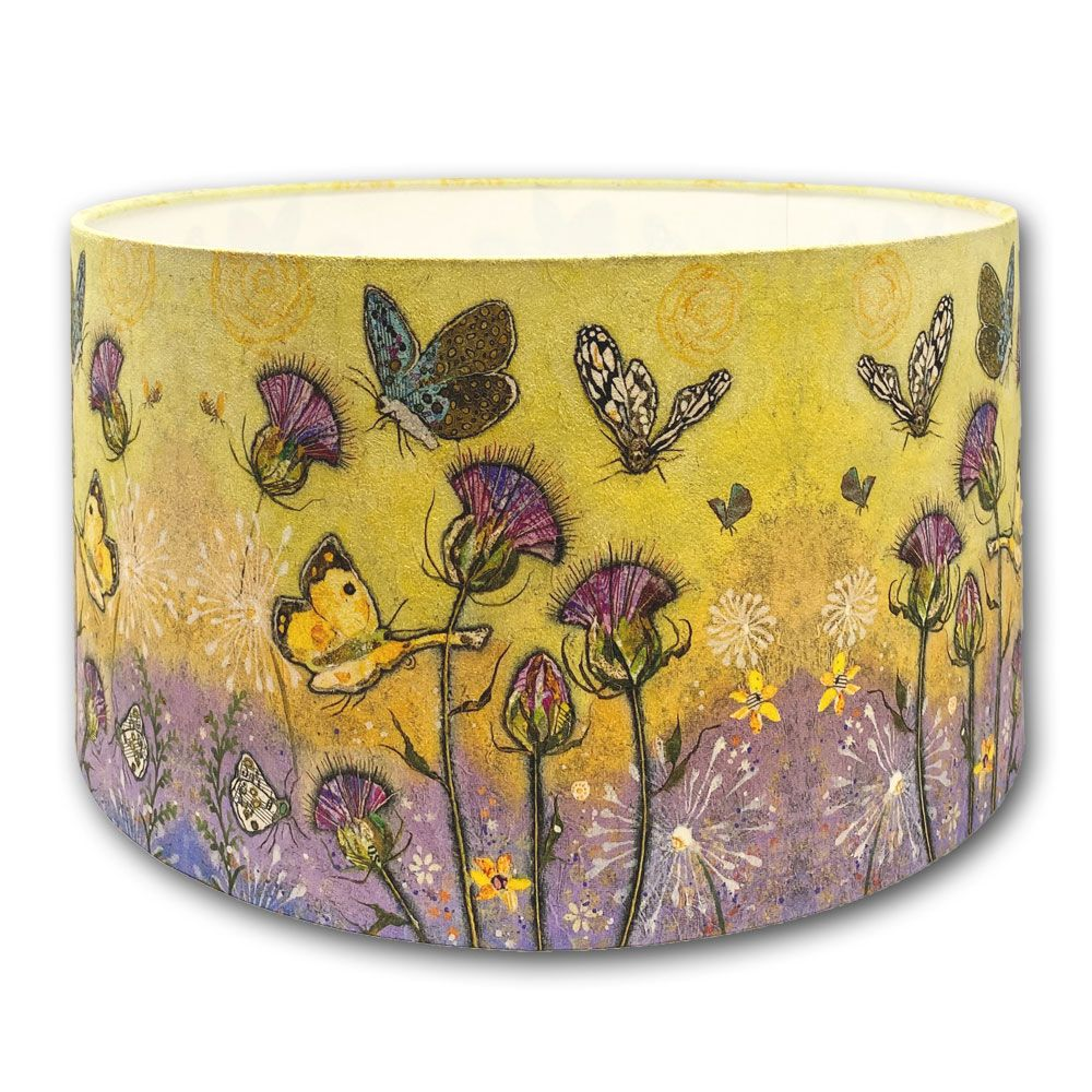 butterfly and thistle lampshade
