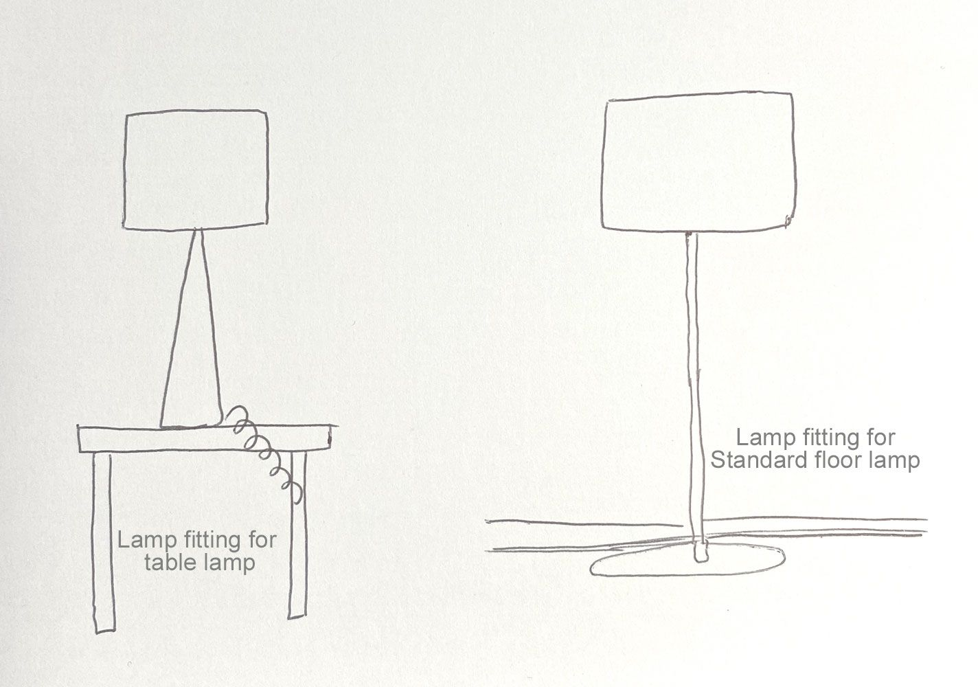 Lam fitting for table or standard floor  lamp