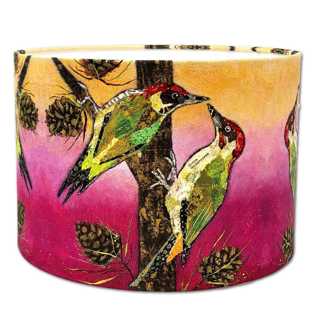 Woodpecker Lampshade 30cms