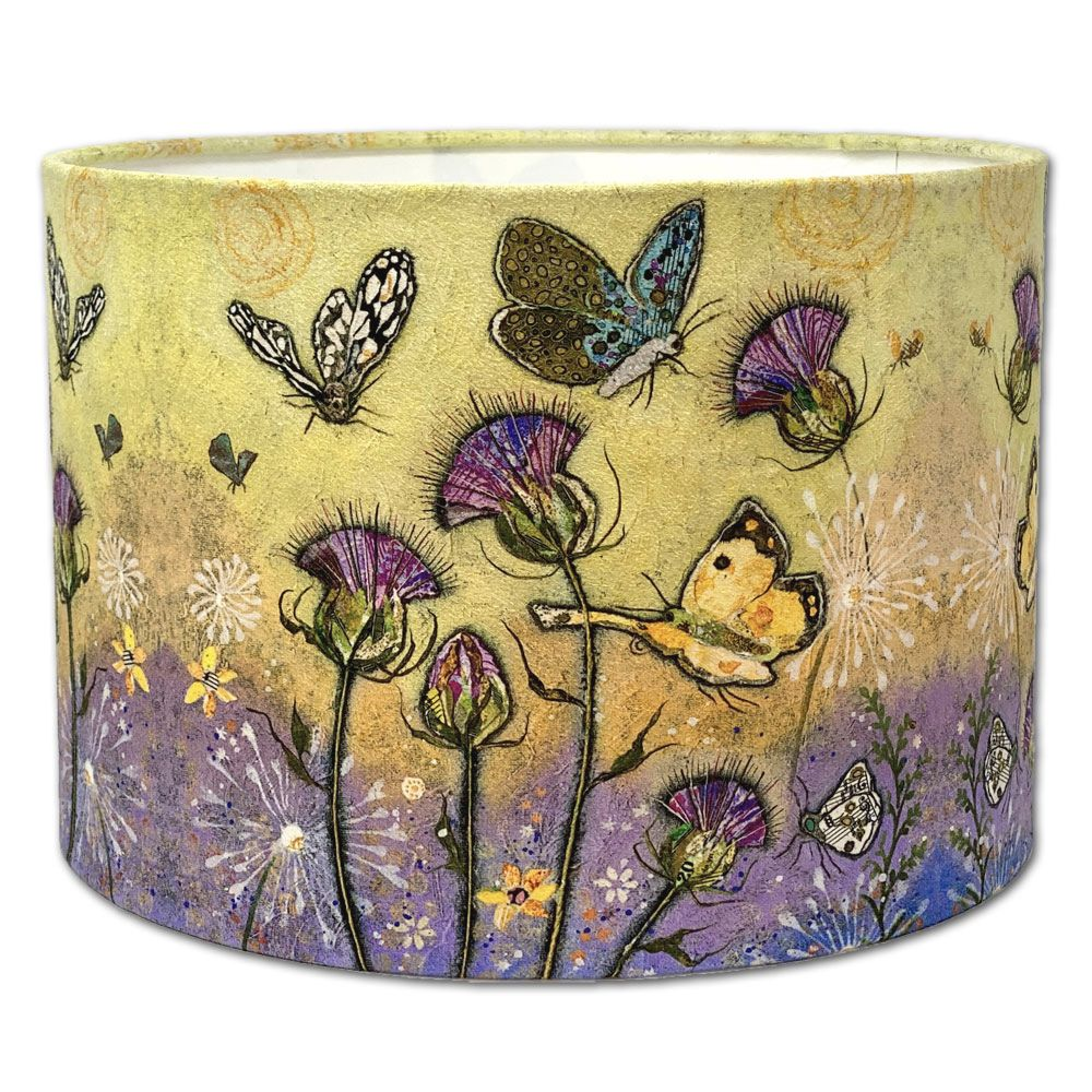 Butterfly & Thistle Lampshade