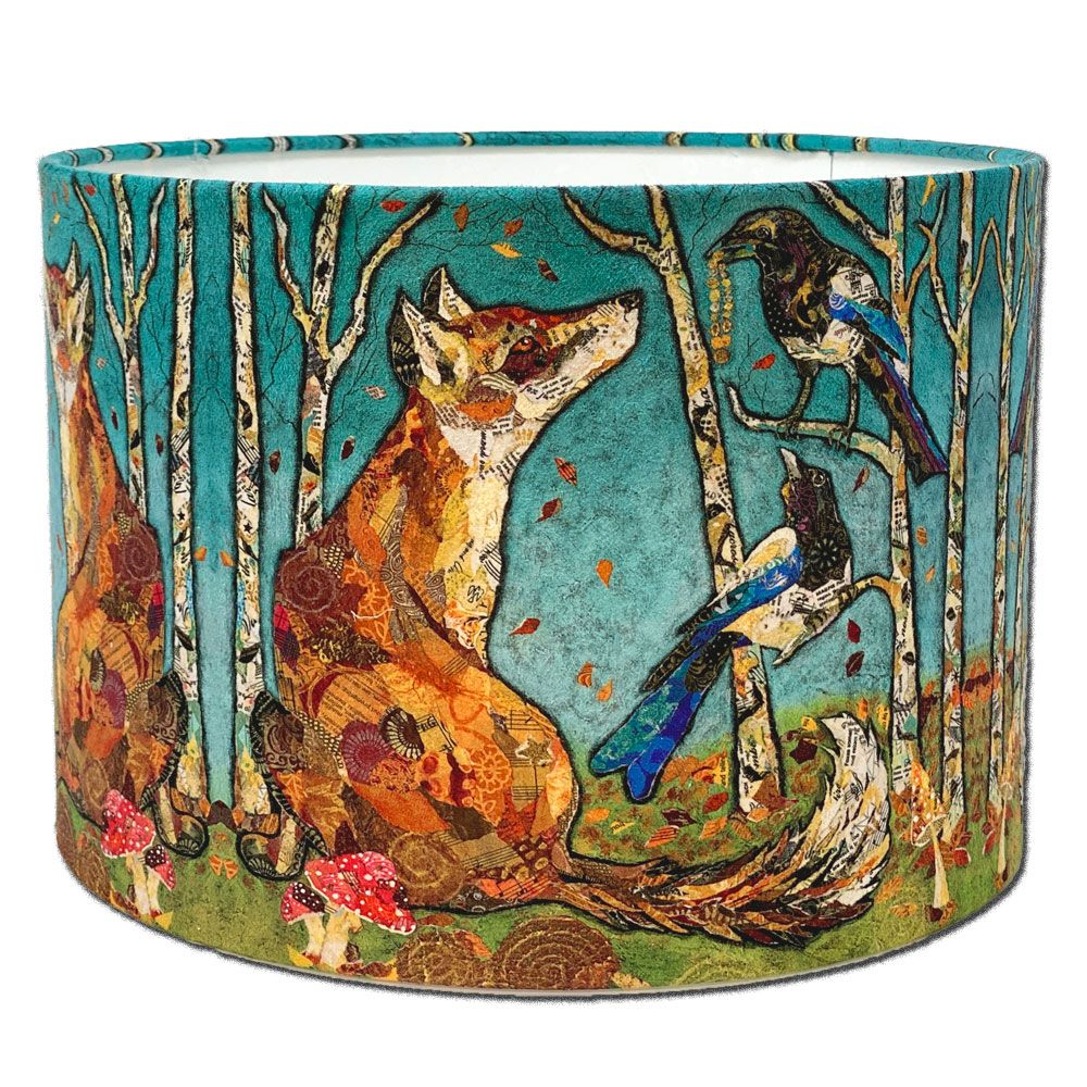Fox & Magpie Lampshade - The Gift