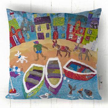 Off Home - Donkey Beach Scene Cushion