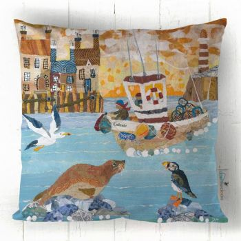 Who'll Catch a Fishy - Fishing Boat Cushion