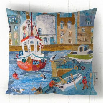 Weekend in St Monans - Harbour Scene Cushion