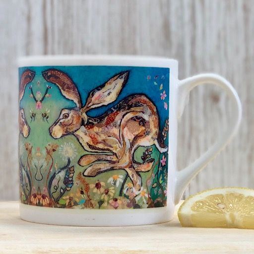 Hare Fine Bone China Mug by Dawn Maciocia