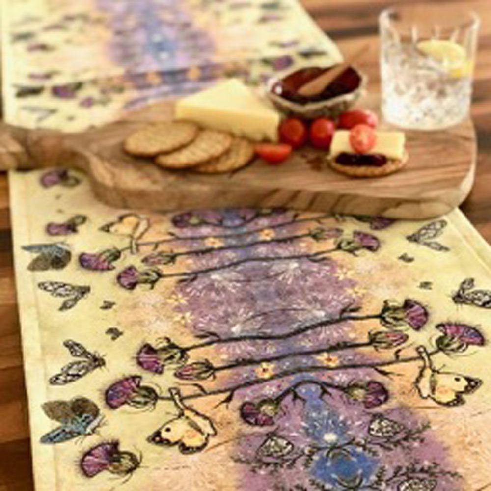 Handmade Thistle Table Runner by Dawn Maciocia