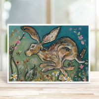 Follow the Leader - Running Hare Card