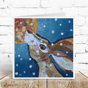Winter Moon Hare- Card