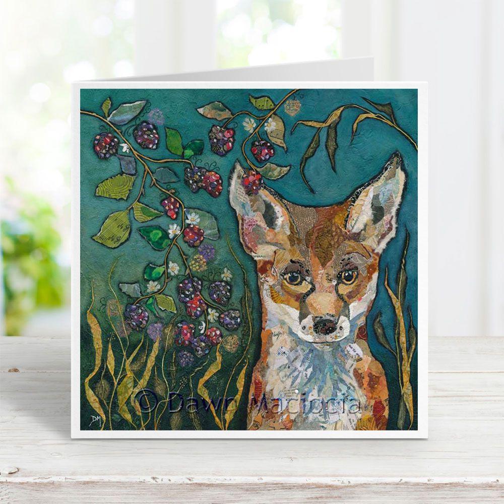 Fox in Brambles - Card