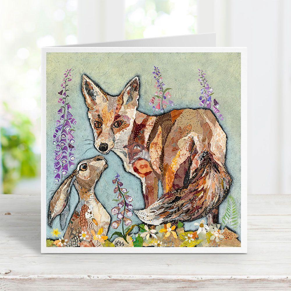 Unlikely Friends - Fox & Hare Card