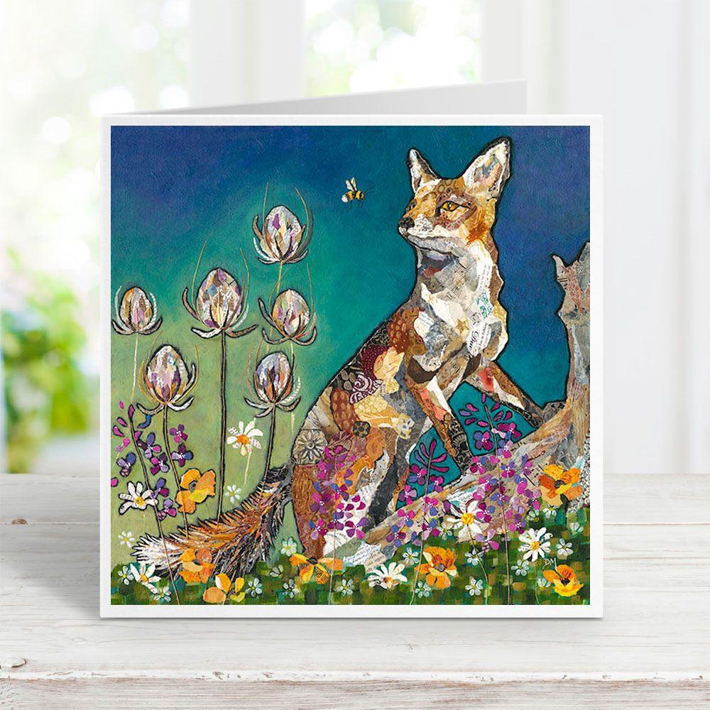 Show me the Honey - Fox & Bee Card