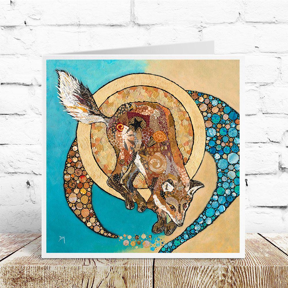 Fox & Golden Moon - Card