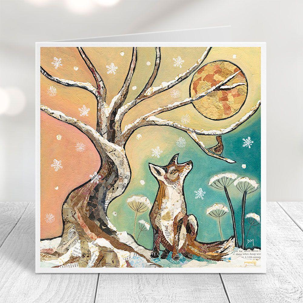 Moonlit Meeting - Fox Card