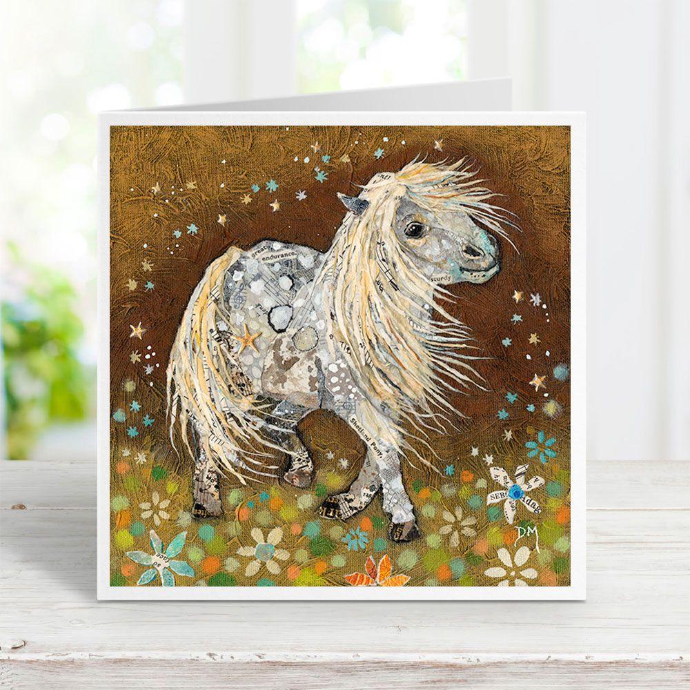 Stardust Pony - Shetland Pony Card