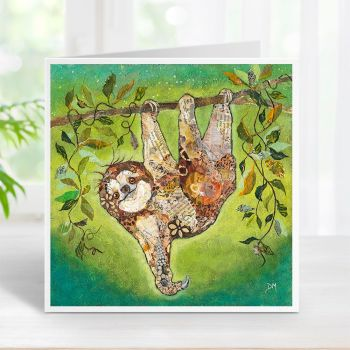 Hang in There - Baby Sloth Card