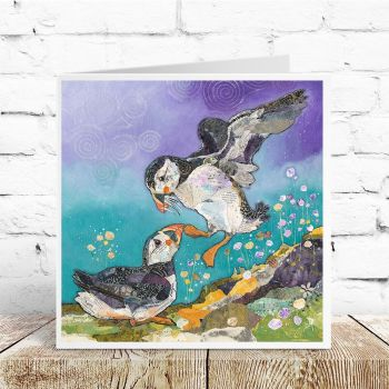 Love on the Rocks - Puffin Card