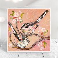 Bottoms Up - Long-tailed Tits Card