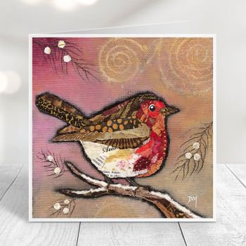 Robin on Blush - Card