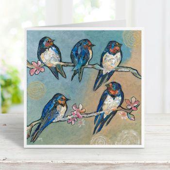 Swallows & Swirls - Card