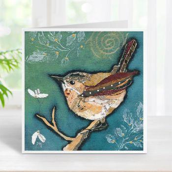 Wren on Aqua Card