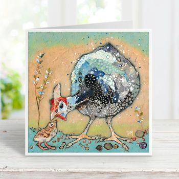 Mini-Ginnie - Guinea Fowl Card