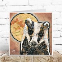 Badger & Moon Card