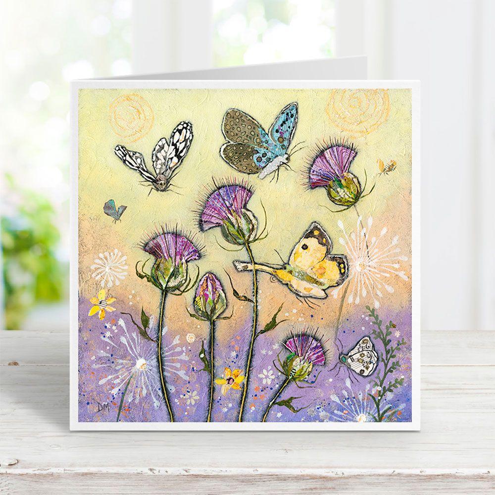 Flutterbies - Butterflies and Thistles Card