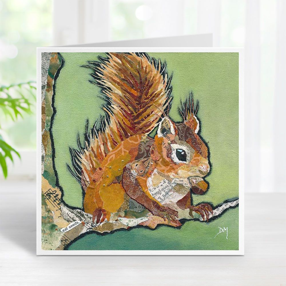 Hands Off My Nut! - Red Squirrel Card