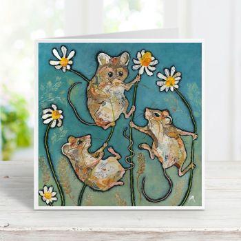 Oops a Daisy - Mice Card