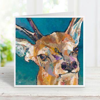 Red Deer Buck - Stag Card