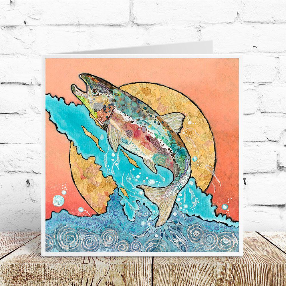 Salmon Leap- Card