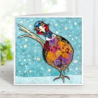 Snowshoe Shuffle -Pheasant Card