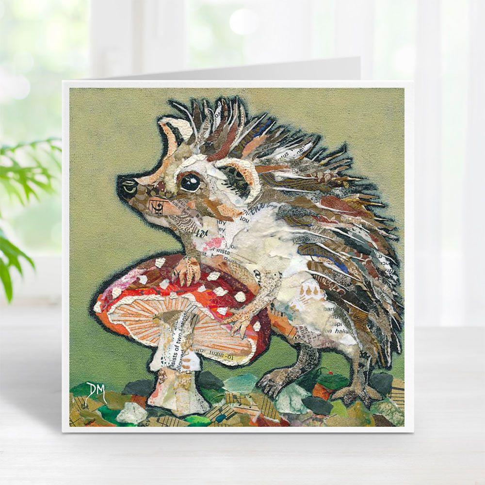 Spots 'n' Spikes - Hedgehog & Toadstool Card