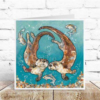 W'otter L'otter Bubbles - Otters Card