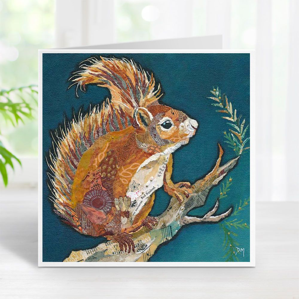Wee Red Squirrel Card