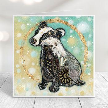 Winter Badger Card