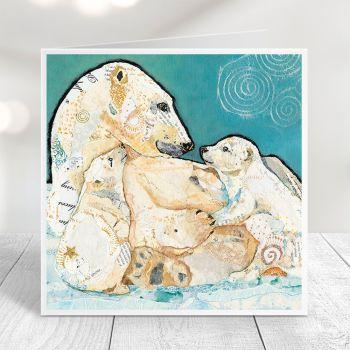 A Mother's Bond - Polar Bear Card
