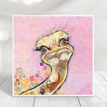 Chick Flick - Ostrich Card