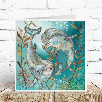 Bubbles & Squeak - Dolphin Card