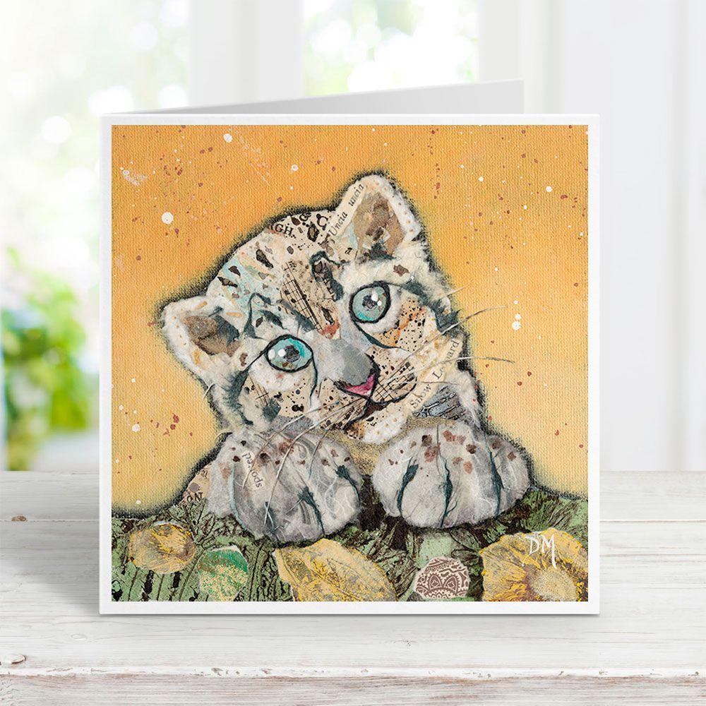 Snow Leopard Cub Card