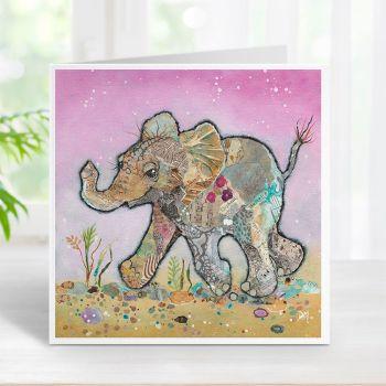 Kali - Baby Elephant Card