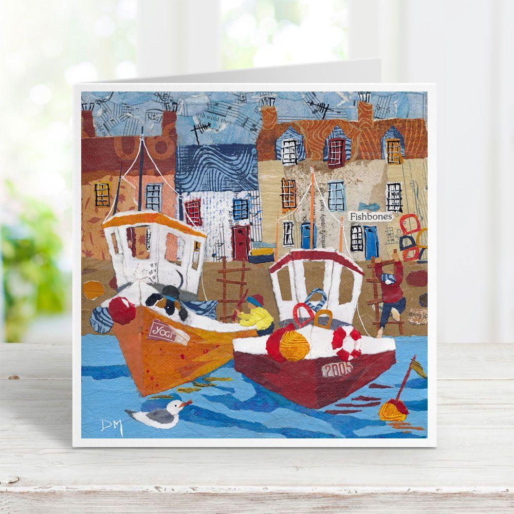 Fishbones & Boats Card