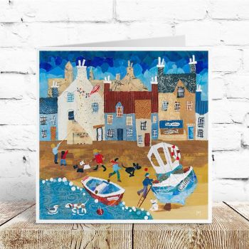 Dogs at Blue Bay - Card