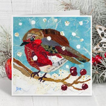 Merry Berry Robin Card