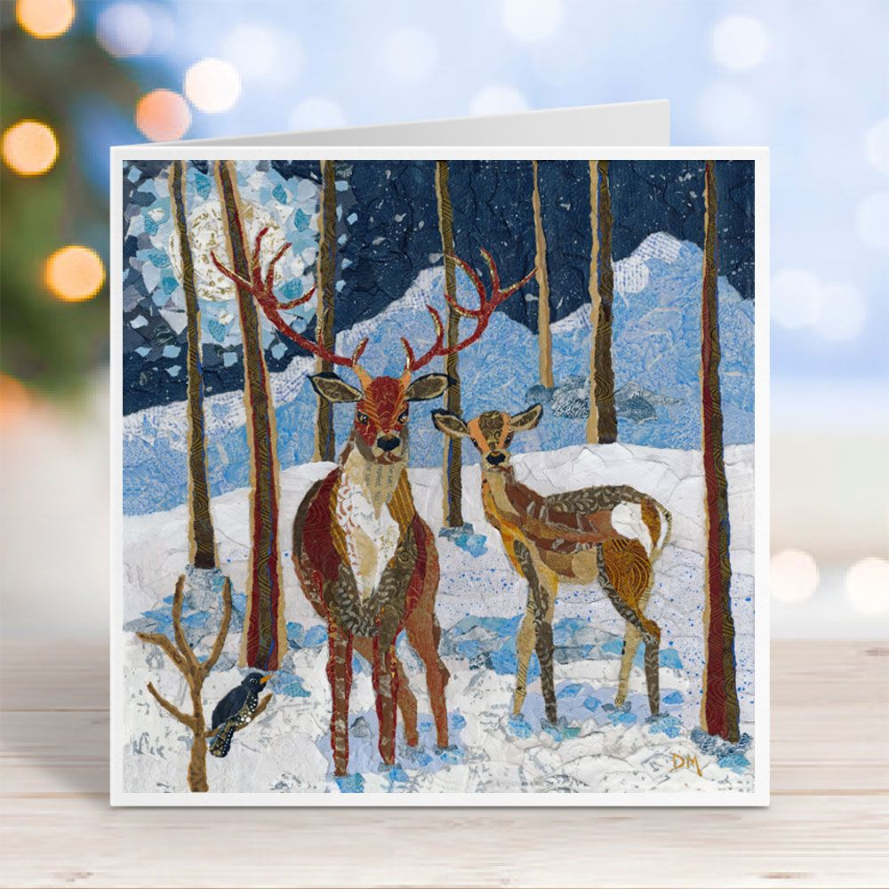 Moonlit Hush -  Woodland Deer Card
