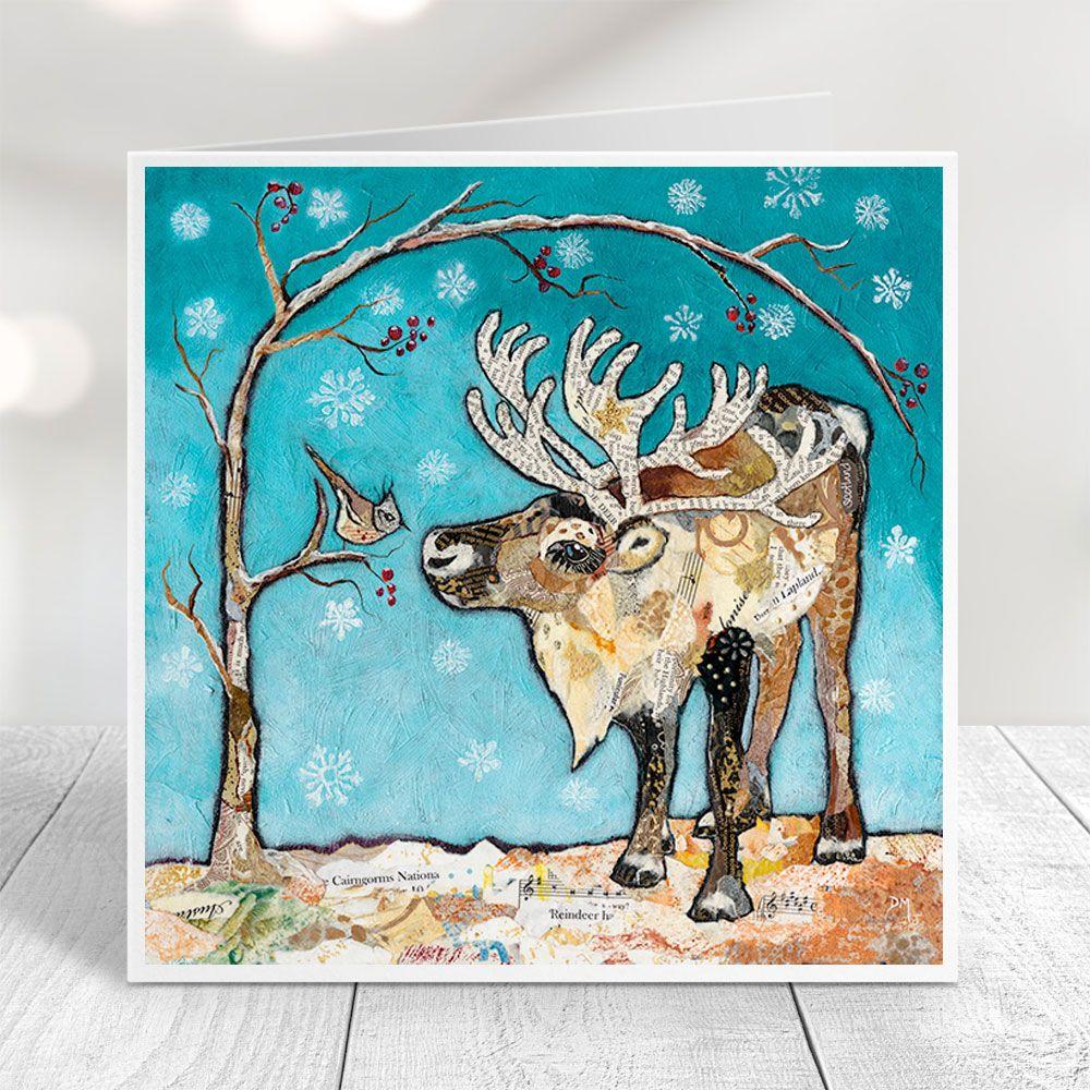 Reindeer & Bird - Card