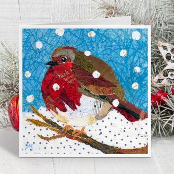 Robin in Snow - Card